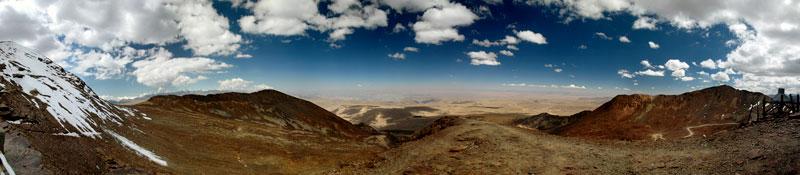 Vista panoramica desde el Chacaltaya, Click para verla ampliada.